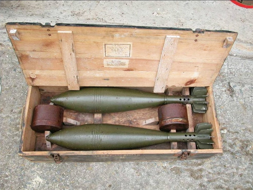 Image result for ww2 german 12cm mortar ammo crate