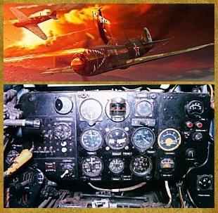 Legendary World War II fighter aircraft dashboard replicas